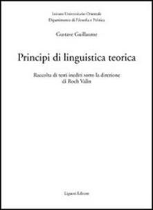 Listadelpopolo.it Principi di linguistica teorica. Raccolta di testi inediti Image