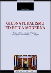 Foto Cover di Giusnaturalismo ed etica moderna, Libro di Pietro Piovani, edito da Liguori