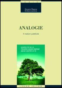 Libro Analogie. Il medium pubblicità Giovanni Ragone , Emiliano Laurenzi