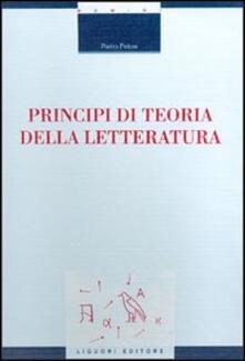 Principi di teoria della letteratura - Pietro Pelosi - copertina
