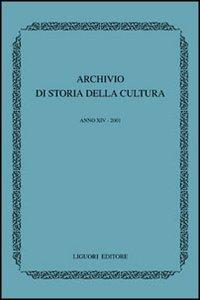 Libro Archivio di storia della cultura