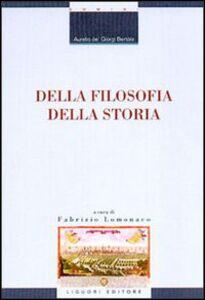 Libro Della filosofia della storia Aurelio Bertola de' Giorgi