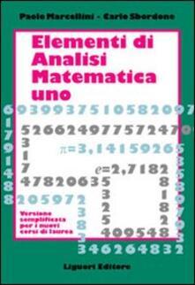 Voluntariadobaleares2014.es Elementi di analisi matematica 1. Versione semplificata per i nuovi corsi di laurea Image
