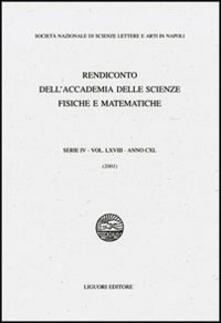 Promoartpalermo.it Rendiconto dell'Accademia delle Scienze Fisiche e Matematiche. Serie IV. Vol. 68: Anno 2001. Image