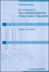 Le Onlus nell'ordinamento tributario italiano. Spunti ricostruttivi