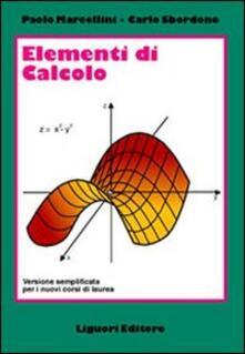 Warholgenova.it Elementi di calcolo. Versione semplificata per i nuovi corsi di laurea Image