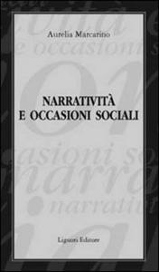 Libro Narratività e occasioni sociali Aurelia Marcarino