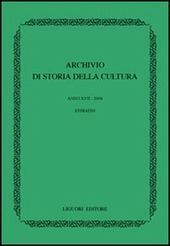 Archivio di storia della cultura (2004)