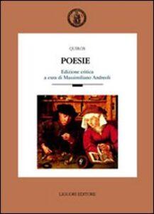 Foto Cover di Poesie, Libro di Quirós, edito da Liguori