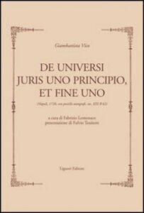 Libro De universi juris principio, et fine uno (rist.anast. Napoli, 1720). Con postille autografe, ms. XIII B 62 Giambattista Vico
