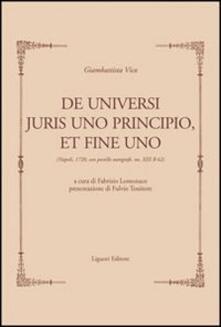 Laboratorioprovematerialilct.it De universi juris principio, et fine uno (rist.anast. Napoli, 1720). Con postille autografe, ms. XIII B 62 Image