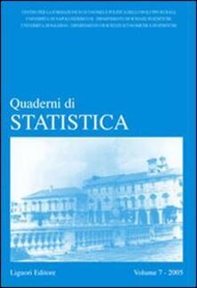 Antondemarirreguera.es Quaderni di statistica (2005). Vol. 7 Image