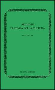 Archivio di storia della cultura (2006)