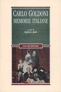 Libro Memorie italiane Carlo Goldoni