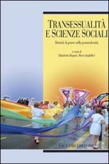 Transessualità e scienze sociali. Identità di genere nella postmodernità - copertina