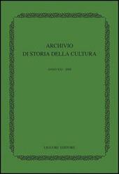 Archivio di storia della cultura (2008)