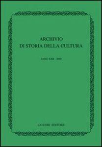 Libro Archivio di storia della cultura (2009)