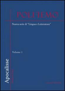 Partyperilperu.it Polifemo. Nuova serie di «lingua e letteratura» (2009). Vol. 0: Apocalisse. Image