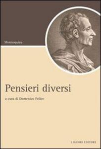 Libro Pensieri diversi Charles L. de Montesquieu