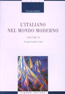 Radiospeed.it L' italiano nel mondo moderno. Vol. 2: Tra grammatica e testi. Image