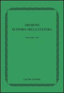 Archivio di storia della cultura (2010)