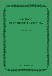 Libro Archivio di storia della cultura (2011)