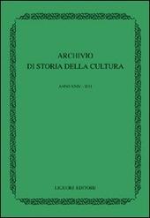 Archivio di storia della cultura (2011)