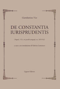 De constantia iurisprudentis (Napoli 1721, con postille autografe, ms.XIII B 62)