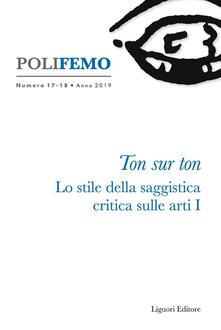 Daddyswing.es Polifemo. Nuova serie di «lingua e letteratura» (2019). Vol. 17-18: Ton sur ton. Lo stile della saggistica critica sulle arti I. Image