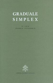 Promoartpalermo.it Graduale simplex (in usum minorum ecclesiarum). Editio typica altera Image
