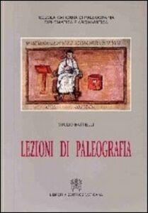 Libro Lezioni di paleografia Giulio Battelli