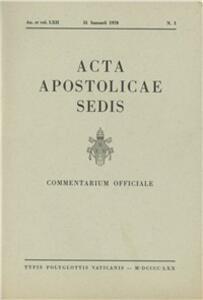 Acta Apostolicae Sedis (1970)