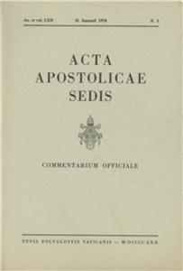 Libro Acta Apostolicae Sedis (1970)