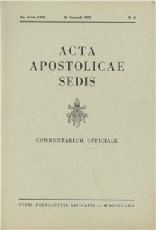 Equilibrifestival.it Acta Apostolicae Sedis (1970) Image