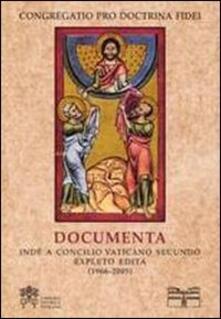 Documenta inde a Concilio Vaticano II expleto edita (1966-2005)