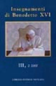 Insegnamenti di Benedetto XVI (2007). Vol. 3\2
