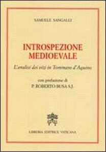 Introspezione medievale. L'analisi dei vizi in Tommaso D'Aquino