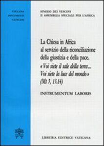 Libro La chiesa in Africa al servizio della riconciliazione e della pace