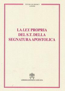 Libro Lex propria del supremo tribunale della segnatura apostolica