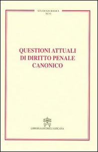 Libro Questioni attuali di diritto penale canonico