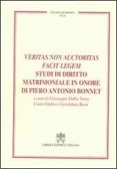 Veritas non auctoritas facit legem studi di diritto matrimoniale in onore di Pietro Antonio Bonnet