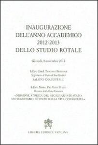 Inaugurazione dell'anno accademico 2012-2013 dello Studio Rotale