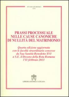 Birrafraitrulli.it Prassi processuale nelle cause canoniche di nullità del matrimonio Image