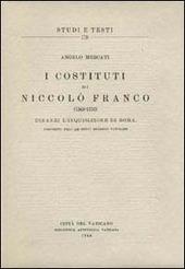 I costituti di Niccolò Franco (1568-1570) dinanzi l'inquisizione di Roma, esistenti nell'Archivio Segreto Vaticano