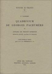 Quadrivium de Georges Pachymère