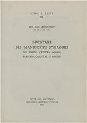 Inventaire des mss. syriaques des fonds Vatican (460-631), Barberini Oriental et Neofiti