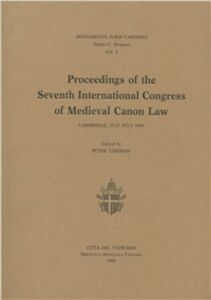 Libro Proceedings of the 7th International congress of medieval canon law (Cambridge, 1984)
