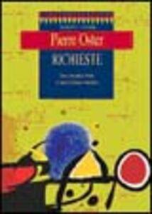 Libro Richieste. Testo originale a fronte Pierre Oster