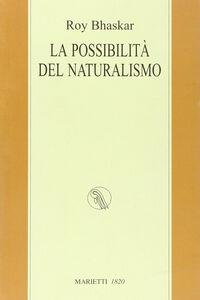 Libro La possibilità del naturalismo Roy Bhaskar