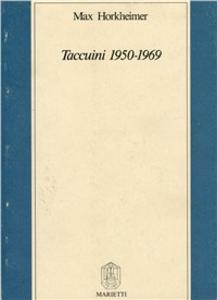 Libro Taccuini 1950-1969 Max Horkheimer
